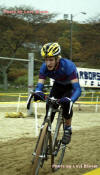 Charles Marzot in the sand in the junior cx race