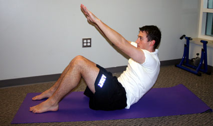 bodyweight exercises for cyclists the reaching crunch