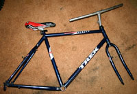 old mountain bike frame and fork