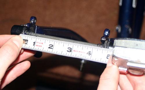 measuring dropouts for the ski bike
