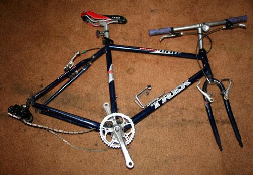 old mountain bike