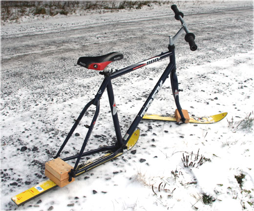 ski bike ready to ride