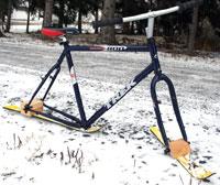 the ski bike